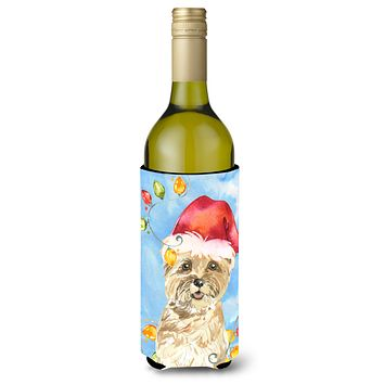 Christmas Lights Cairn Terrier Wine Bottle Beverage Insulator Hugger CK2474LITERK
