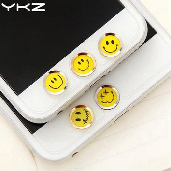 YKZ Universal Home Button Sticker For iPhone 8 7 6 Plus 5 Fingerprint Touch ID Anti Sweat Screen Protector For iPad Air 2 3 4 R