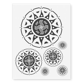 Tribal Sun Halo 3 Temporary Tattoos