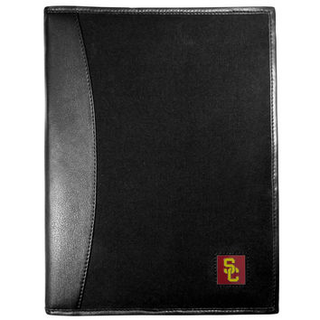 USC Trojans Leather and Canvas Padfolio CPAD53