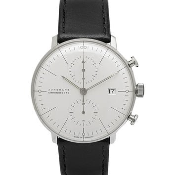 Junghans - Max Bill Stainless Steel and Leather Chronograph Watch | MR PORTER