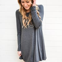 Day to Night Charcoal Sweater Dress