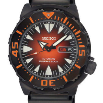 Seiko Prospex Automatic Dive Watch - Black IP Case & Bracelet - Day/Date - 200m
