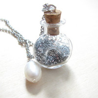 Vial Necklace  Glass Bottle Necklace  Glitter Necklace  Magic Dust Necklace Teen necklace