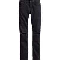 H&M - Jeans Super skinny fit - Black - Men