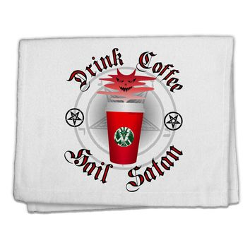 """Red Cup Drink Coffee Hail Satan 11""""x18"""" Dish Fingertip Towel by TooLoud"""