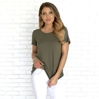 The Simple Life Top in Olive