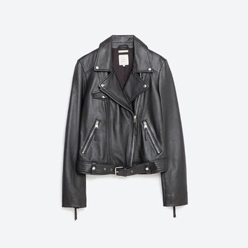 BASIC LEATHER JACKET - Jackets-OUTERWEAR-WOMAN | ZARA United States