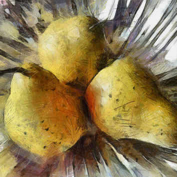 Three Pears - Still Life by Ann Powell