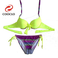 New direct manufacturer bikini set push up vintage vs swimwear  brasil bottom &top swimsuit PAD zabra competitive high end brand