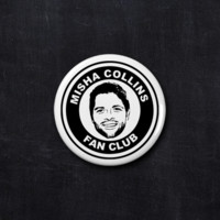 Misha Collins fan club button