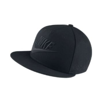 Nike True Flat Bill CR7 Adjustable Hat Size MediumISC (Black)