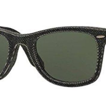 Ray-Ban Original Wayfarer 2140F 1162 Denim Black Sunglasses 52mm