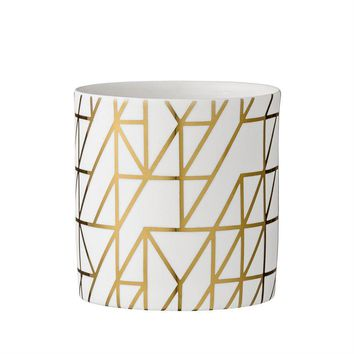 White & Gold Votive