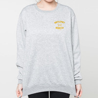 Harry Potter sweater Hufflepuff Quidditch shirt sweatshirt pocket printed t shirts jumper long sleeve t-shirt S M L XL grey
