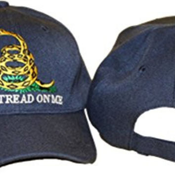 Gadsden Don't Tread On Me Navy Blue Embroidered Baseball Cap Hat