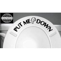 PUT ME DOWN Decal Bathroom Toilet Seat Vinyl Sticker Sign Reminder for Him (Come with glowindark Monster switchplate decal) Stickerciti Brand