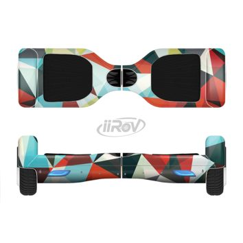 The Vector Red and Blue 3D Triangular Surface Full Body Skin Set for the Smart Drifting SuperCharged Transportation iiRov