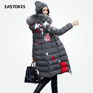Women Reversible Coats With Large Fur Collar Slim Fits Ladies Winter Hooded Jackets Female Long Parkas Wadded Outfits