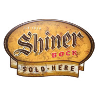 Shiner Sold Here Metal Sign