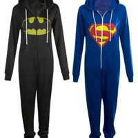 Superman vs Batman Superhero Jumpsuit Onesuit