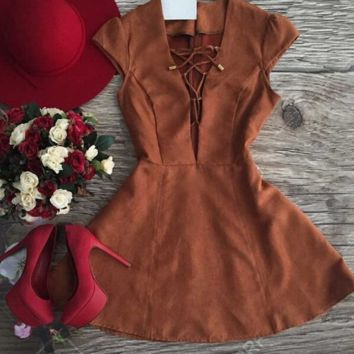 FASHION CROSS HOT DRESS