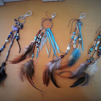 Concho Charm, Purse Clip, Boho Bag Charm, Saddle Clip, Leather Fringe, Gypsy Boho Leather, Purse Charm, Bag Clip, Feather Clip