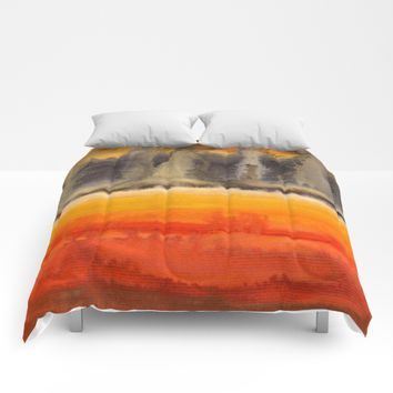 Improvisation 18 Comforters by ViviGonzalezArt