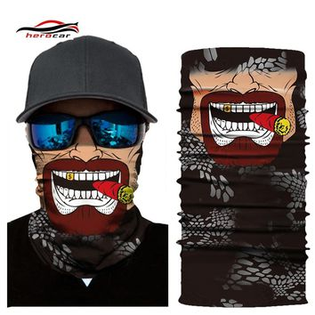 HEROBIKER Mask Balaclava Motorcycle Unisex Skull Cycling Seamless Bandanas Breathable Mask Ghost Face Shield Moto Helmet Maske