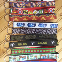 Star wars, marvel comics, DC comics, star treck, keychain