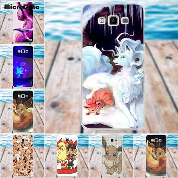 Eevee In Pokeball Pokemons Soft Silicone TPU Transparent Cell Bags For Samsung Galaxy A3 A5 A7 J1 J2 J3 J5 J7 2015 2016 2017