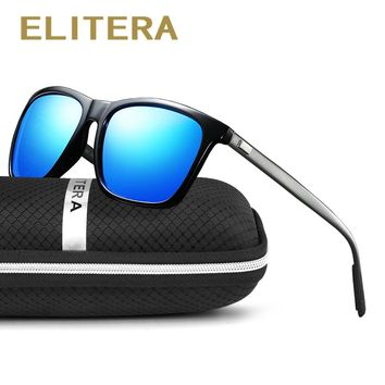 ELITERA Brand Aluminum Magnesium Polarized Men Sunglasses Vintage Eyewear Accessories Sun Glasses For Men/Women