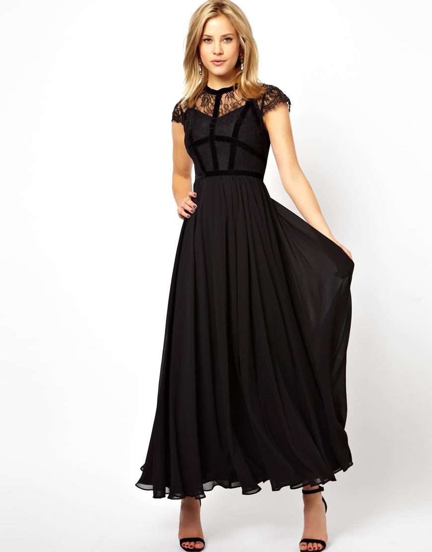 Asos petite exclusive maxi dress with from asos dresses for Bedroom kandi business cards