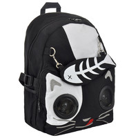 LIVING DEAD SOULS CAT AND GOLD FISH BACKPACK WITH SPEAKERS (BLACK)