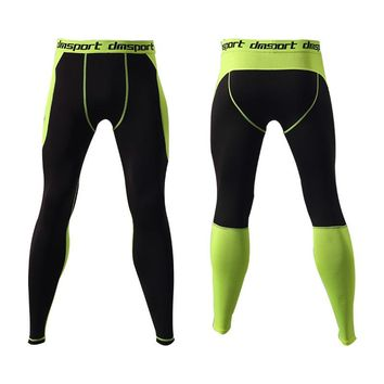 Compression Leggings Quick Dry Breathable Elastic Waist Men Running Tights Fitness Bodybuilding Sportswear Plus Size S-3XL