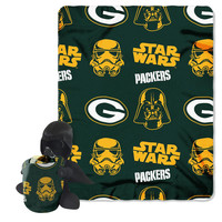 Green Bay Packers NFL Star Wars Darth Vader Hugger & Fleece Blanket Throw Set