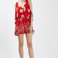 Off The Shoulder Floral Playsuit by Band Of Gypsies