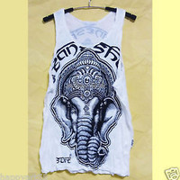 Women tops Ganesh tank top elephant shirt M L XL India tee men shirt summer tops