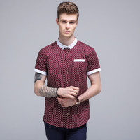 Summer Men's Fashion Stylish Men Print Shirt Casual Shirt [6544520771]