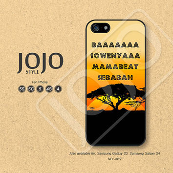 iPhone 5 Case, iPhone 5c Case, iPhone 4 Case, iPhone 5s Case, iPhone 4s Case, Disney, The lion king, Phone Cases, Phone Covers - J017