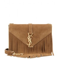 Classic Monogram Small fringed suede shoulder bag