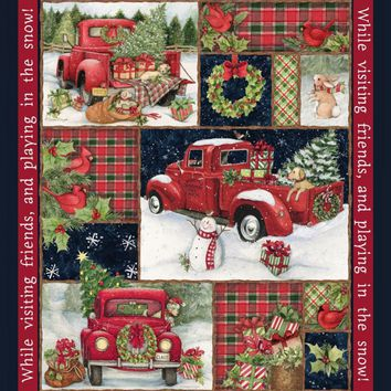Red Truck Panel Springs Creative Designed by Susan Winget