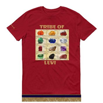 Israelite Tribe Of Levi Breastplate Of Judgement Short-Sleeve T-shirts With Gold Fringes