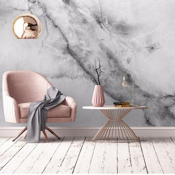Bacaz Black-white 8d 3d Marble Wallpaper Mural for Walls TV Background 3D Marble Mural Wall papers 3d stickers