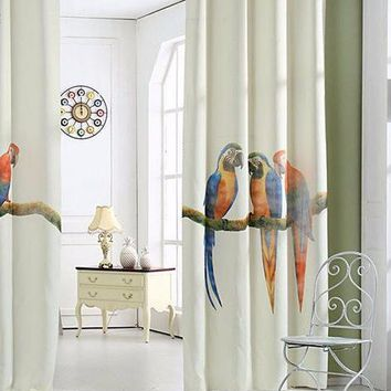 Parrot 3D Printed 1.4MX2.7M Window Curtain
