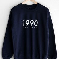 1990 New York Oversized Sweatshirt - Navy