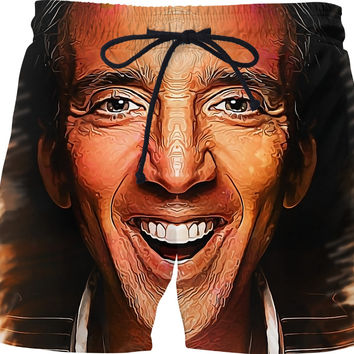 Nic Cage Caricature Swim Shorts