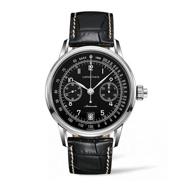 Longines Heritage Chronograph Black Dial Automatic Mens Watch L28004530