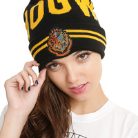 Harry Potter Hogwarts Striped Watchman Beanie