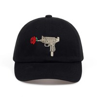 Trendy Winter Jacket 2018 New high quality Rose Assault dad hat Baseball Caps Spring black Hats for Women Solid Snapback Cap  Dad Hat AT_92_12